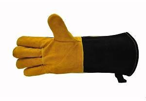 G & F Products Cowhide Suede Leather BBQ and Fireplace Gloves with Extra Long Cuff-8113Suede