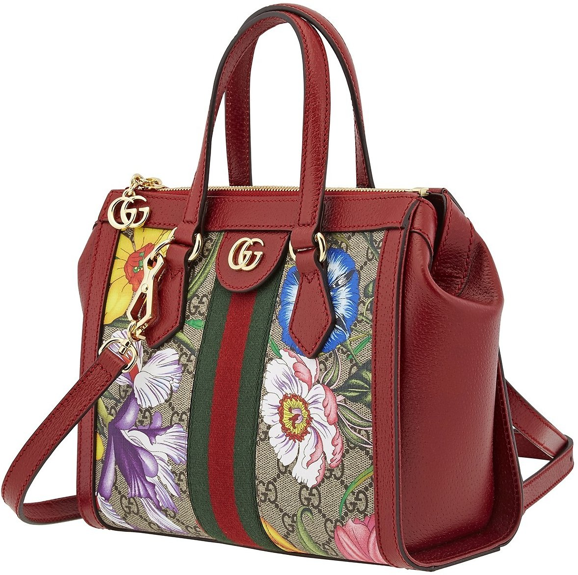 Gucci Ladies Ophidia GG Flora Tote Bag