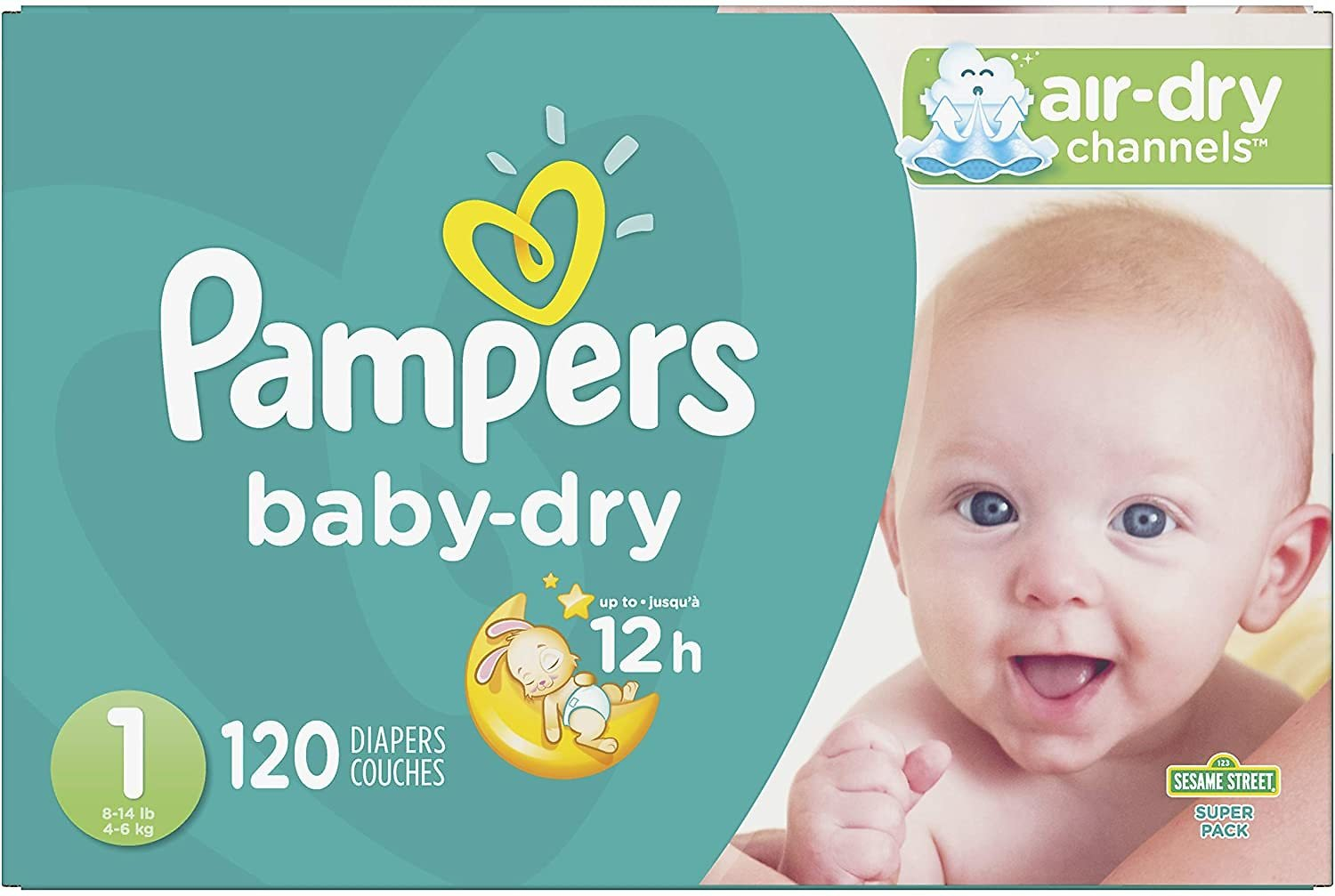120-Pk Pampers Disposable Baby Diapers (Mult. Sizes)