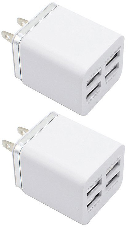 Silver Four-USB Wall Adapter - Set of Two