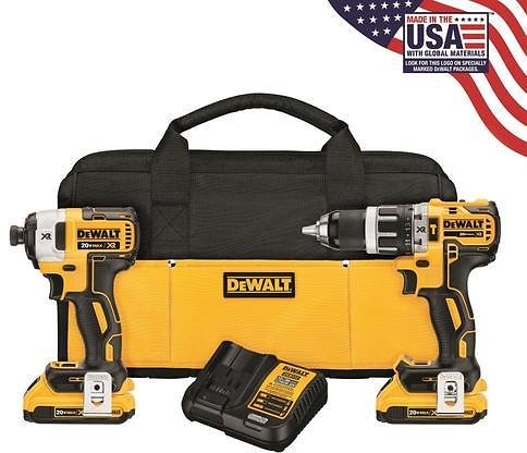 DEWALT XR 2-Tool 20-Volt Max Brushless Power Tool Combo Kit with Soft Case (Charger Included and 2-Batteries Included) Lowes.com