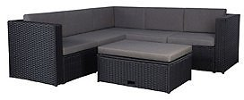 Westin Furniture 6-Piece Modern Sectional Set with Storage Ottoman & Reviews - Furniture