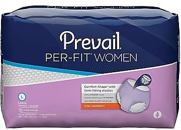 Prevail Per-Fit Women, Extra Absorbency, Lavender, Large, 72/CT