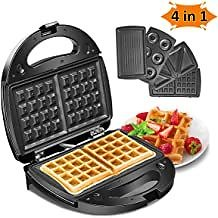 Waffle Maker Machine Chaffles, Paninis, Hash Browns, or Any Breakfast, Lunch