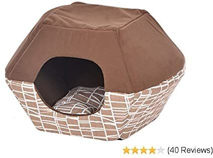 EXTRA 30% OFF Cat Bed with Bendable Top 2-in-1 Cat Condo and Bed
