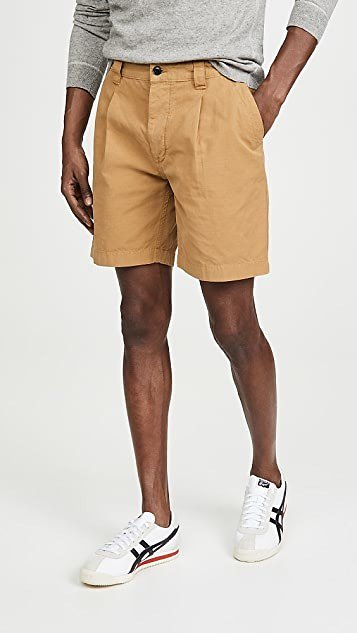 Albam GD Ripstop Pleated Shorts | EAST DANE