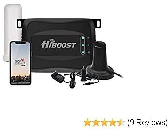 HiBoost Travel 4G 2.0 Mobile Cell Phone Signal Booster Extender Amplifier for RV Caravan Motor Home -Compatible with All Single Carrier for T&T, T-Mobile, Verizon, Sprint, Straight Talk, U.S. Cellular