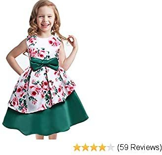 Toddler Flower Girls Dress Spring Floral Tutu Party Dress Holiday Party Wedding Princess Casual Dresses