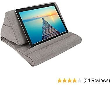 ZGWJ Pillow Stand Tablet Pillow Holder Soft Pillow Lap Stand for Tablet, EReaders, Mobile Phone, Magazines, Books (Grey)