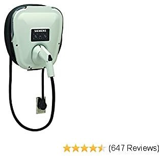 Siemens US2 VersiCharge Universal (VC30GRYU): Fast Charging, Easy Installation, Flexible Control, Award Winning, UL Listed, J1772 Compatibility, 20ft Cable, NEMA 6-50 Plug