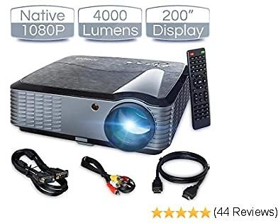 ICODIS T700 Video Projector, Native Full HD 1080P Digital Projector 4000 Lux with 200
