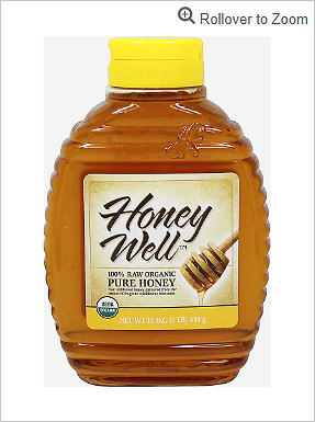 Raw Organic Pure Honey 16 Bottle | Honey & Sweeteners Products| Puritan's Pride