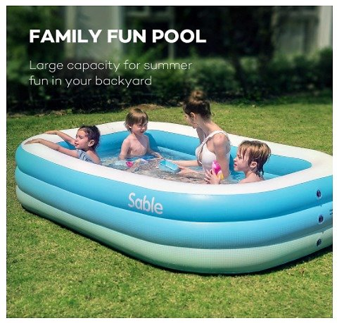 Family-Sized Inflatable Pool