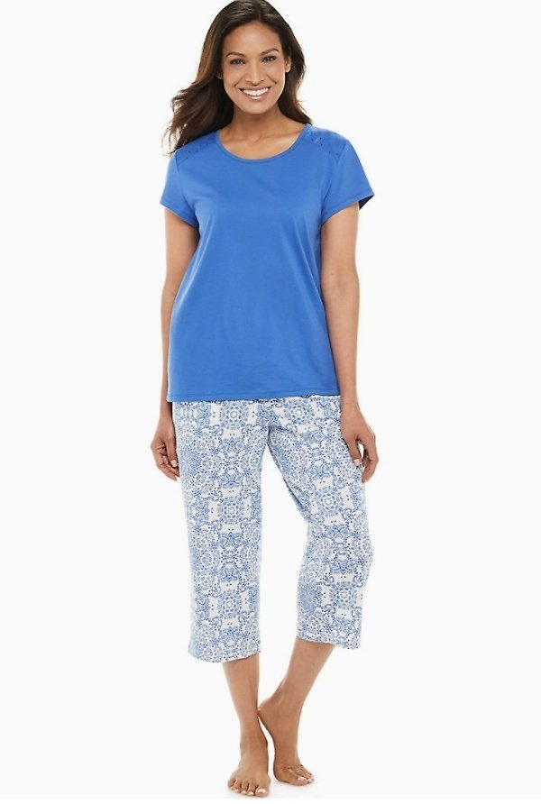 Capri Eyelet Pajama Set ON SALE