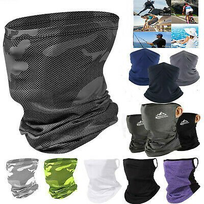 Motorcycle Bicycle Bandana Tube Head Scarf Neck Gaiter Face Shield Mouth Cover