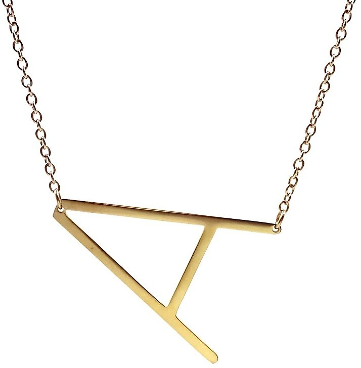 Savvy Cie | 14K Gold Plated XL Initial Necklace - Multiple Letters Available | Nordstrom Rack