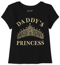 Baby And Toddler Girls Short Sleeve 'Daddy's Princess' Graphic Tee