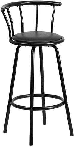 Flash Furniture Black Upholstered Swivel Bar Stool Lowes.com