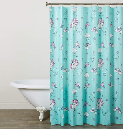 Dream Street Unicorns PEVA Shower Curtain Set - Big Lots