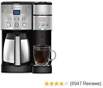 2020 Coffee Center 10-Cup Thermal Single-Serve Brewer Coffeemaker, Silver