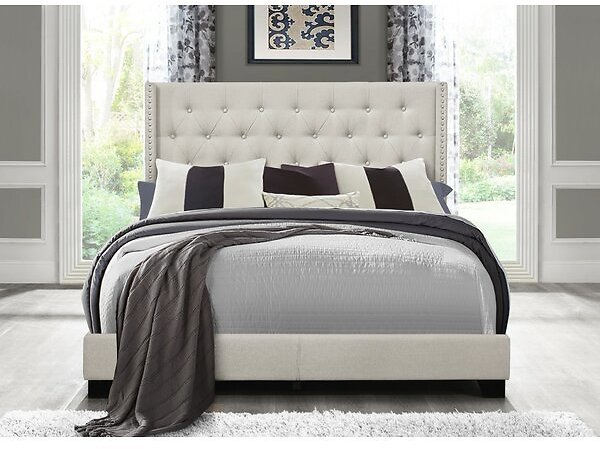 Aadvik Tufted Upholstered Low Profile Standard Bed