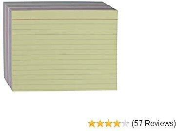 AmazonBasics Ruled Color Index Cards, 4