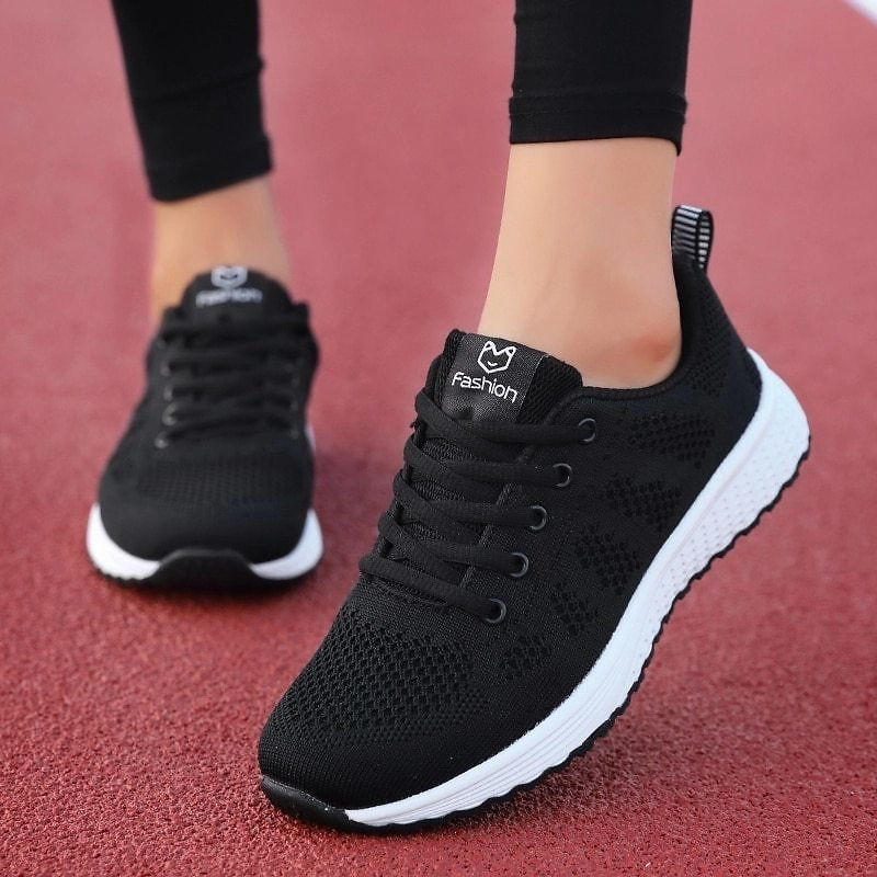 US $11.17 66% OFF|2020 New Sneakers Women Shoes Flats Fashion Casual Ladies Shoes Woman Lace Up Mesh Breathable Female Sneakers Zapatillas Mujer|Women's Vulcanize Shoes| - AliExpress