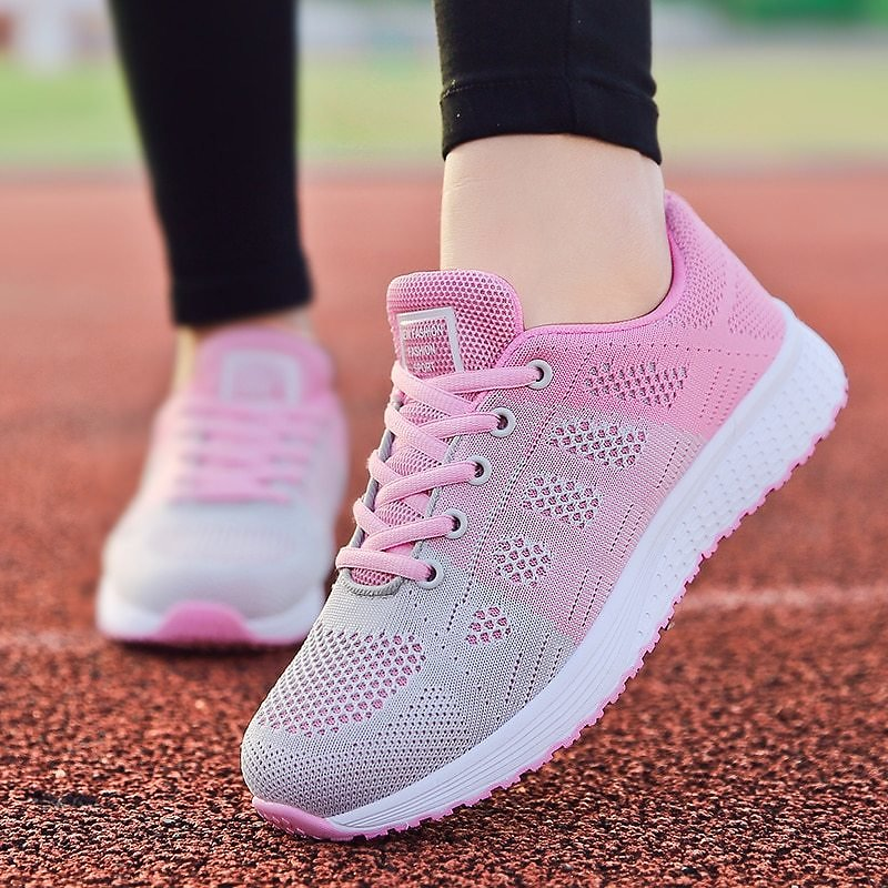 US $7.99 57% OFF|Women Casual Shoes Fashion Breathable Walking Mesh Lace Up Flat Shoes Sneakers Women 2019 Tenis Feminino White Vulcanized Shoes|Women's Vulcanize Shoes| - AliExpress