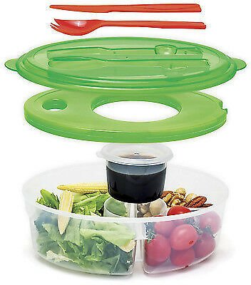 Altatac 6 Pc, Container Salad Container, Lunch Box & Utensils, Green