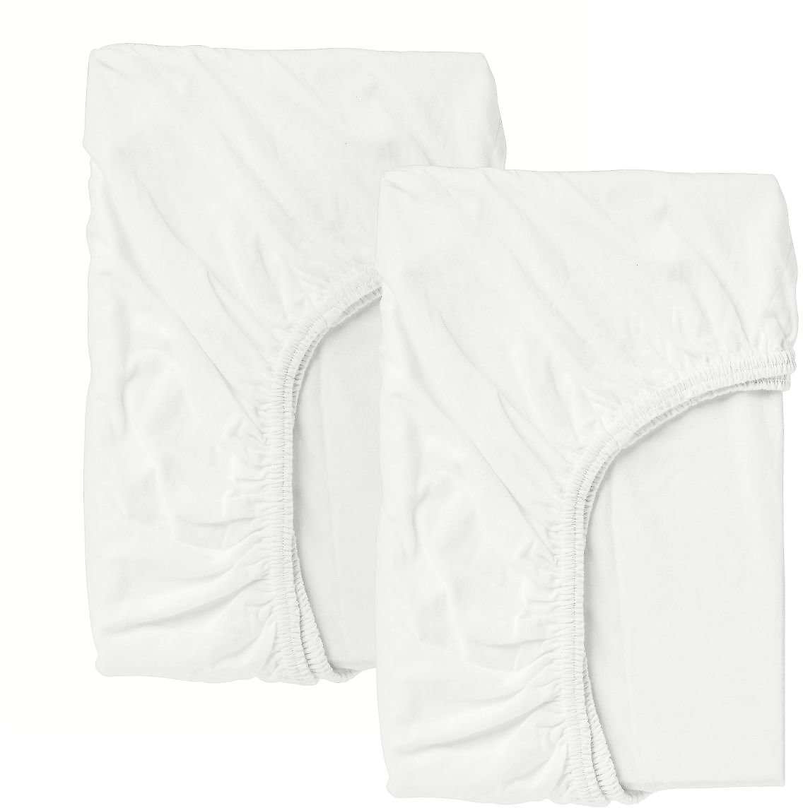 LEN Crib Fitted Sheet, White28x52