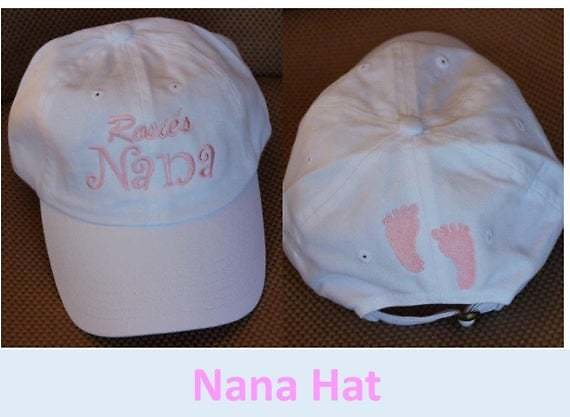 Monogrammed Ball Cap For NANA /Baby Shower Gift/Announcement Gift/ Grannie Gift