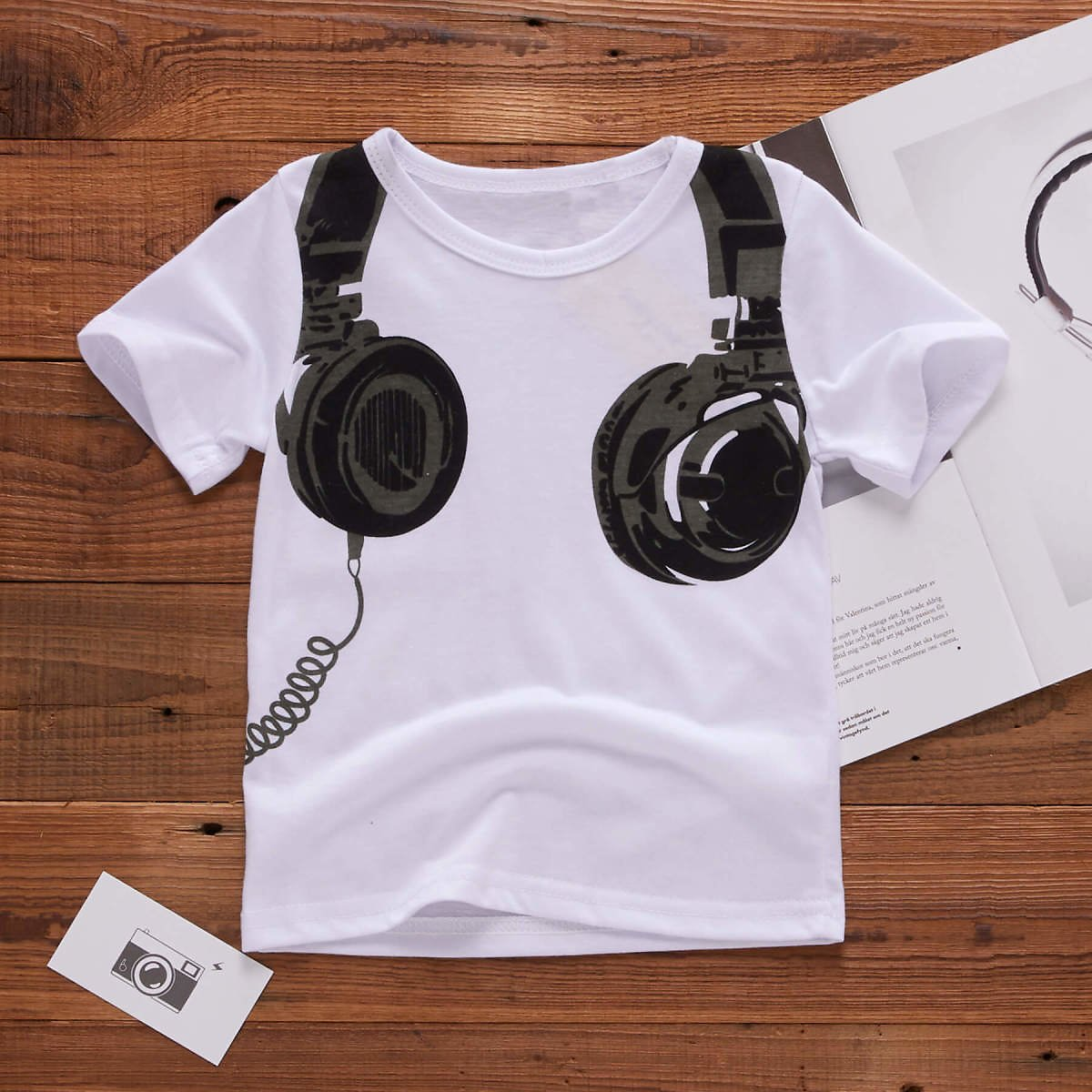 Baby / Toddler Cool Headset Print Baby Boy's T-shirt