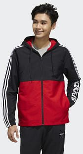 Adidas Essentials Colorblock Windbreaker - Black | Adidas US