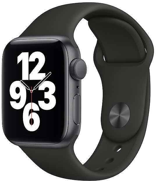 New Apple Watch SE GPS, 40mm, With Black Sport Band, Space Gray