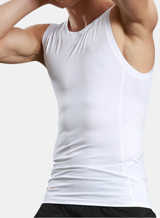 Tight Men's Tight Sport Quick Drying Vest Casual Running Fitness Body Building Elastic Vest Activewear from Men's Clothing on Banggood.com