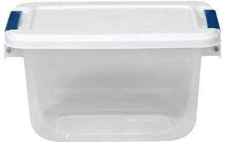 Hefty 1.625-Gallon (6.5-Quart) Clear Tote with Latching Lid