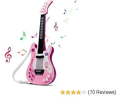 Extra 40% Off Kids Guitar, Electric Guitar for Girls with Colored Lights Effect