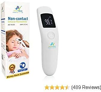Amplim Medical, Hospital Grade Non Contact Infrared Forehead Thermometer. Baby/Kid/Infant/Toddler/Child/Adult/Professional/Clinical Digital Thermometer