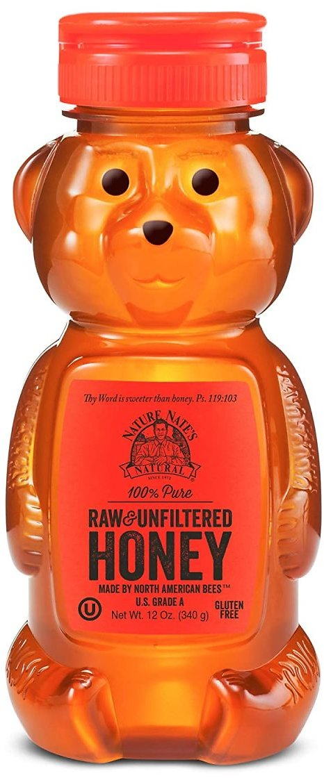 Nature Nate's 100% Pure, Raw & Unfiltered Honey; 12oz. Squeeze Bottle; Award-Winning Taste