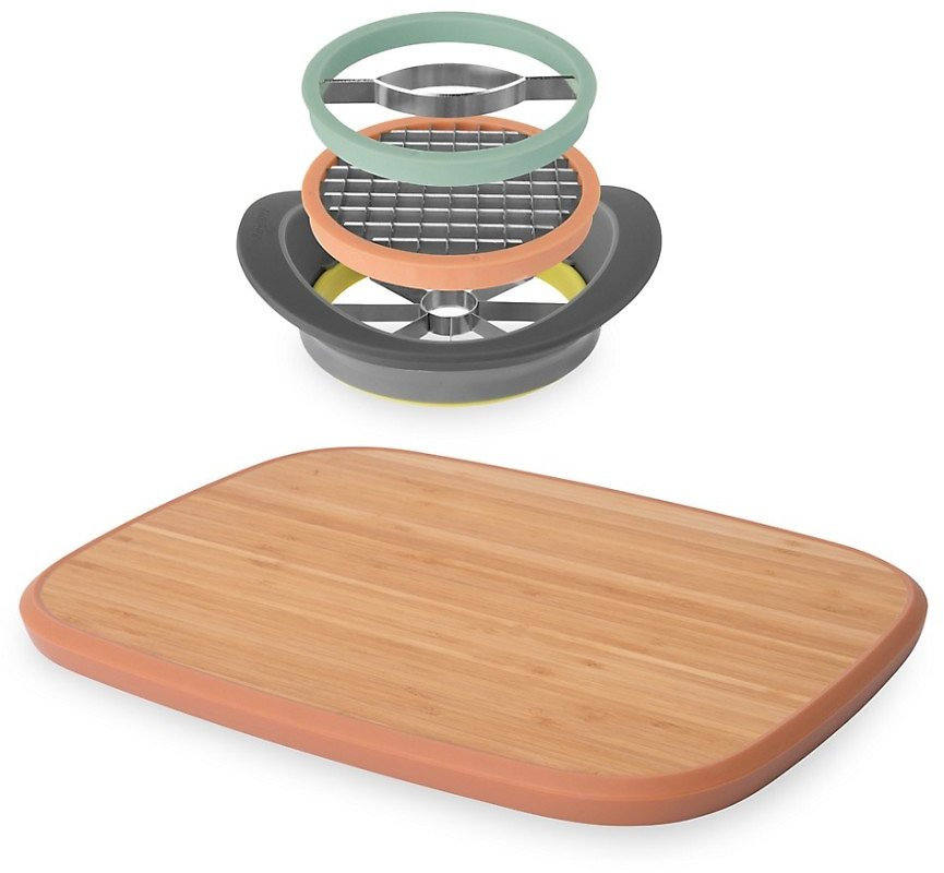 Berghoff Leo 2-Piece All-in-One Slicer & Bamboo Cutting Board Set On SALE