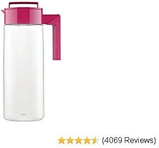Takeya Patented and Airtight Pitcher Made in The USA, 2 Quart, Raspberry