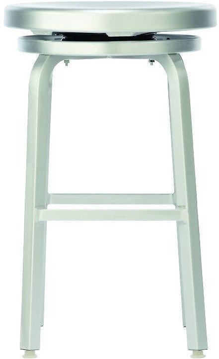 Home Decorators Collection Melanie 24 In. Brushed Aluminum Swivel Bar Stool-2446410440