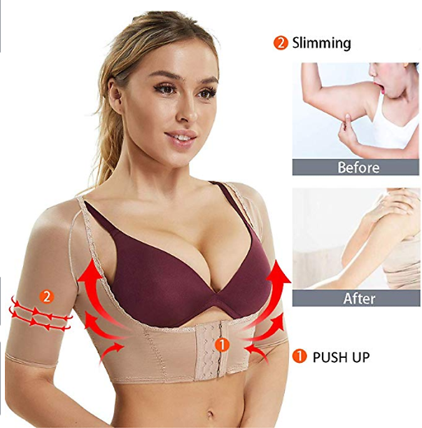 Women's Posture Corrector Push Up Bra Chest Support Sleevless Humback Correction Arm Slimming Body Shaper
