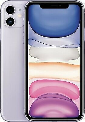Apple - IPhone 11 128GB - Purple (Unlocked) 190199220744