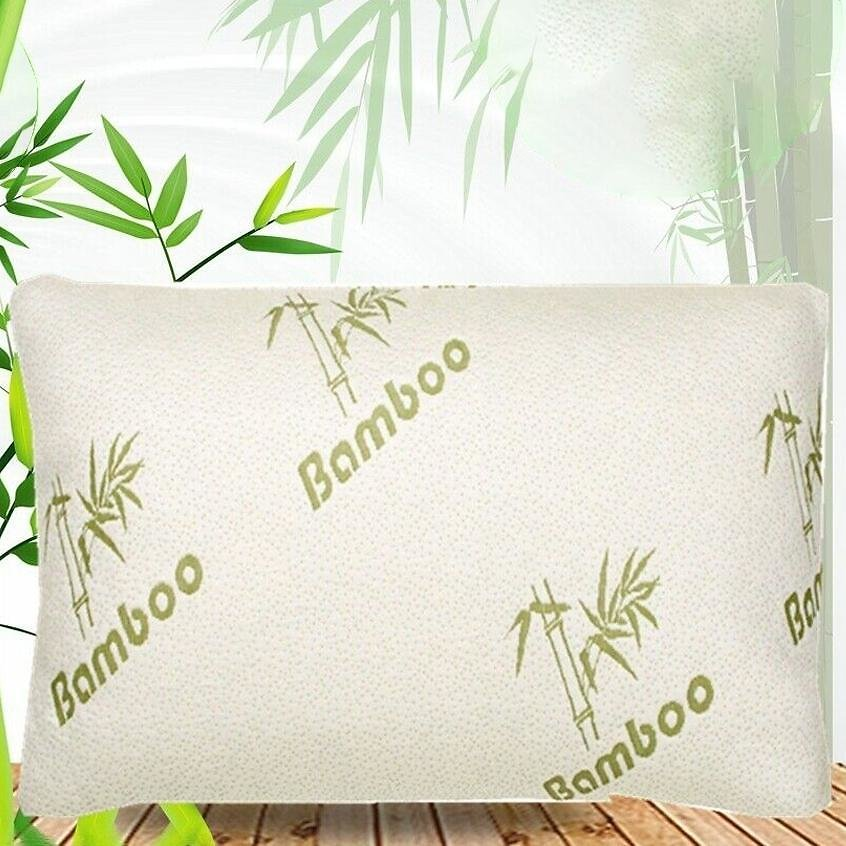 Bamboo Comfort Memory Foam Pillows - Hypoallergenic Removable Cover