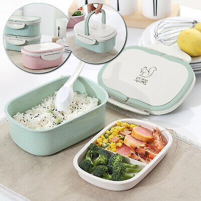 Container Microwave Lunch Box 2 Layer Wheat Straw Food Storage