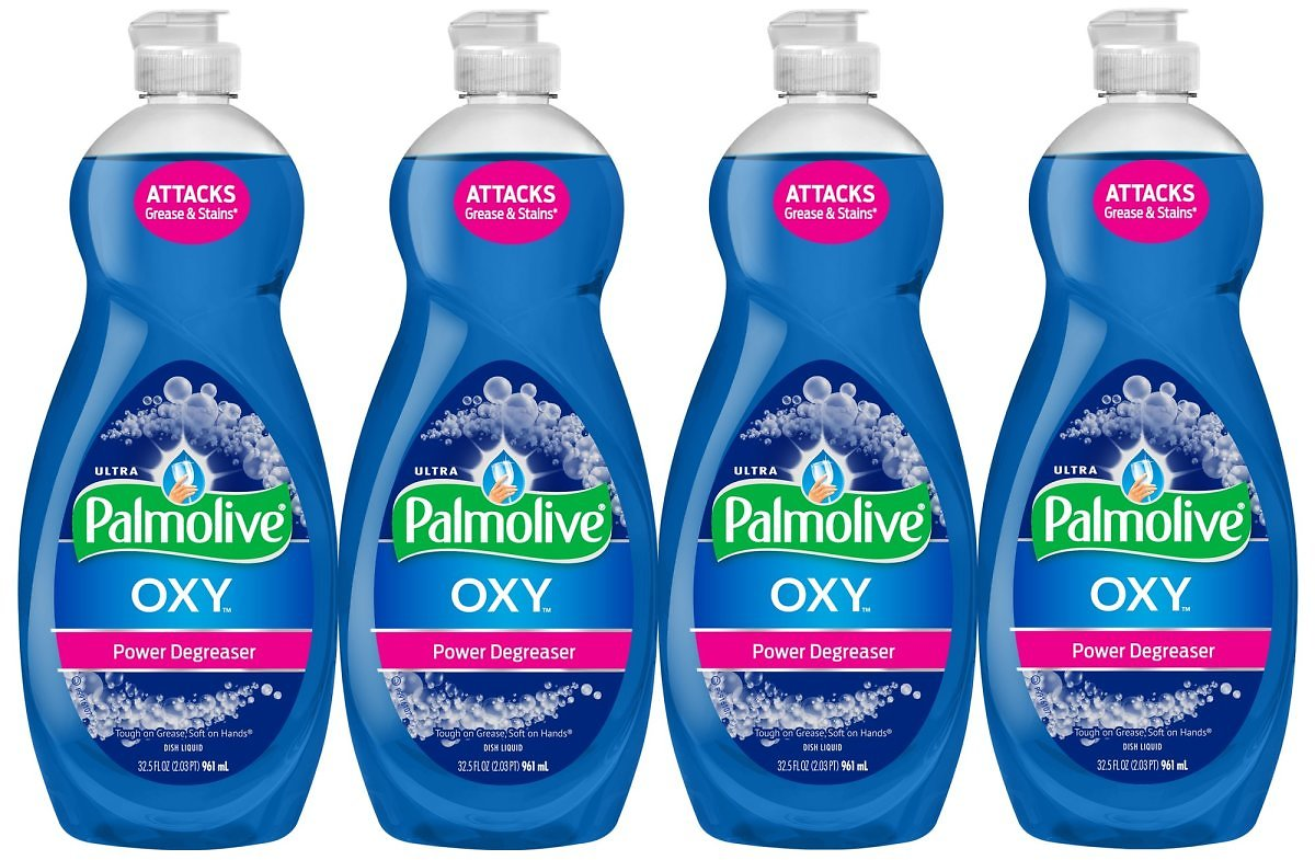 (4 Pack) Palmolive Ultra Dish Soap, Oxy Power Degreaser - 32.5 Fluid Ounce