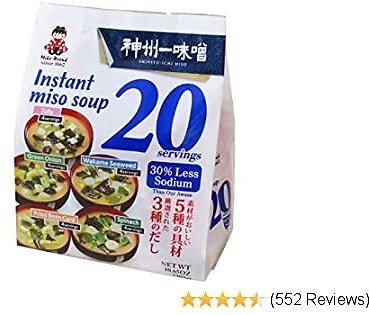 MIYASAKA JOZO USA Instant Miso Soup (20 Servings Per Package)