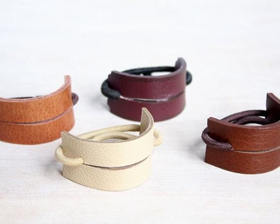 Leather Hair Band, Ponytail Wrap, Ponytail Holder, Hair Tie, Leather Wrap, Women Gift, Cosplay Hair, YesterdaysNovember, Hair Accessories