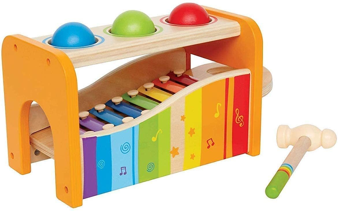 18% Discount - Hape Pound & Tap Bench with Slide Out Xylophone